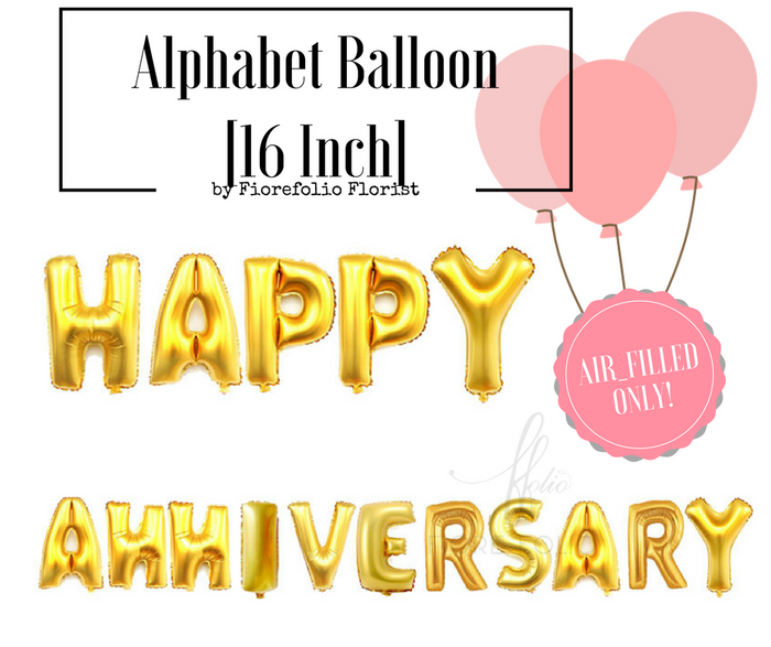 happy anniversary alphabet balloon for sales singapore