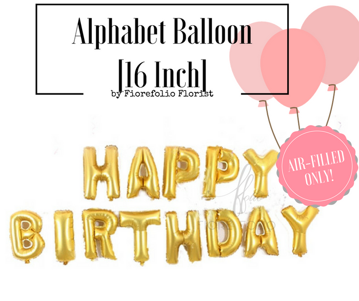 happy birthday alphabet foil balloon