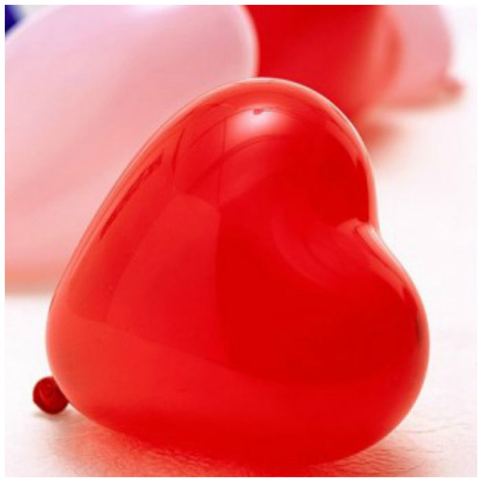 "10"" Heart Shaped Latex Balloon"