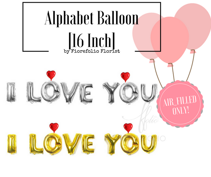 i love you alphabet balloon supply