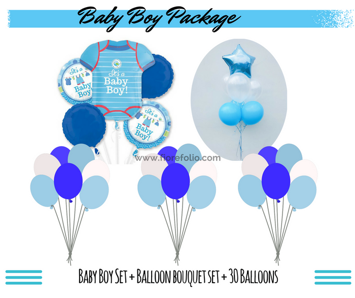 baby shower balloon package delivery