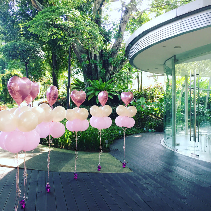 wedding aisle balloon decor