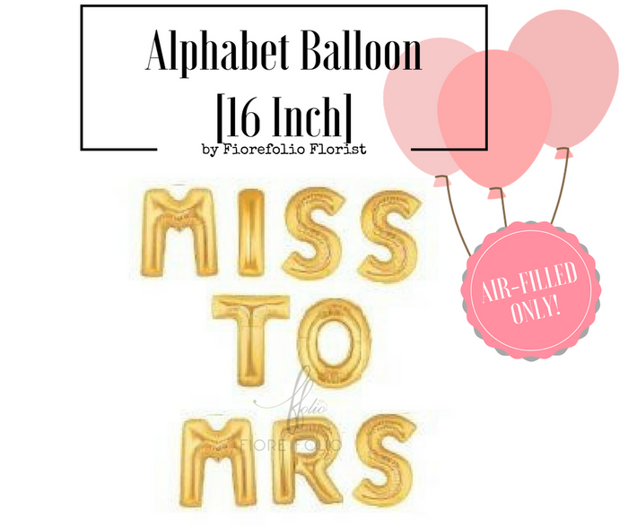 miss to mrs bachelorette party decor alphabet balloon sg