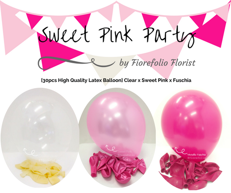 shades of pink balloon party package