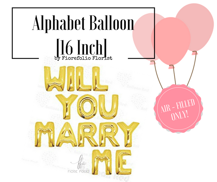 Will you marry me [alphabet balloon]