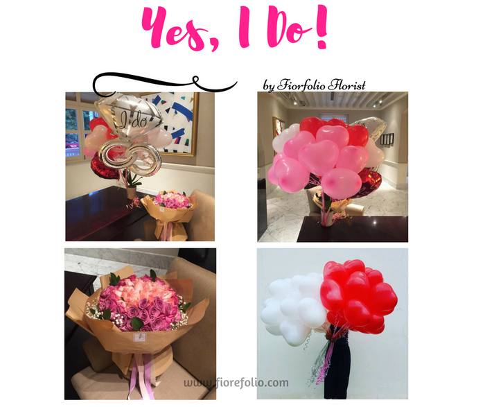 99 stalks proposal bouquet florist singapore. heart shaped balloon delivery
