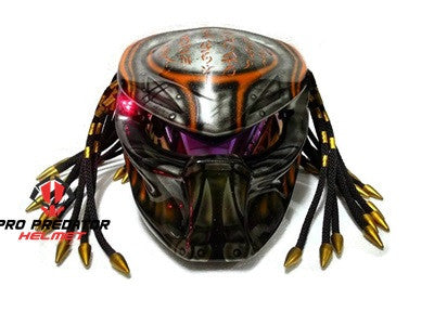 T11 Custom Predator Motorcycle Dot Approved Helmet Hand Paint 7 - Pro Predator Helmet
