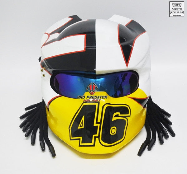 SY37 Pro Predator Motorcycle Helmet 46 valentino rossi logoDot Approved,ECE
