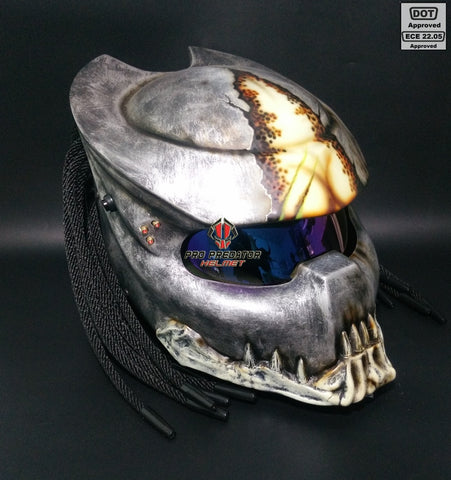 SY03 Berserker Custom Predator Motorcycle Dot Approved,ECE Helmet Airbrush