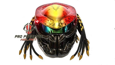 T25 Custom Made Predator Motorcycle Dot Approved Helmet - Pro Predator Helmet