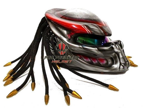 T26 Custom Made Predator Motorcycle Dot Approved Helmet - Pro Predator Helmet
