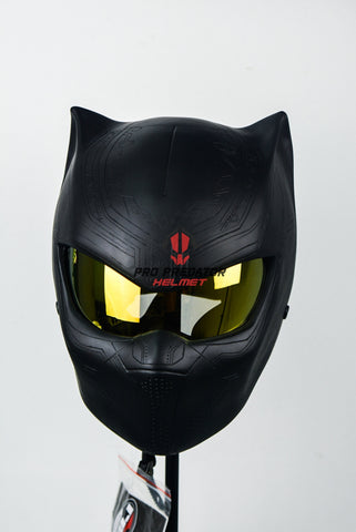 Black Panther Motorcycle Dot Approved Helmet Hand Made Pro