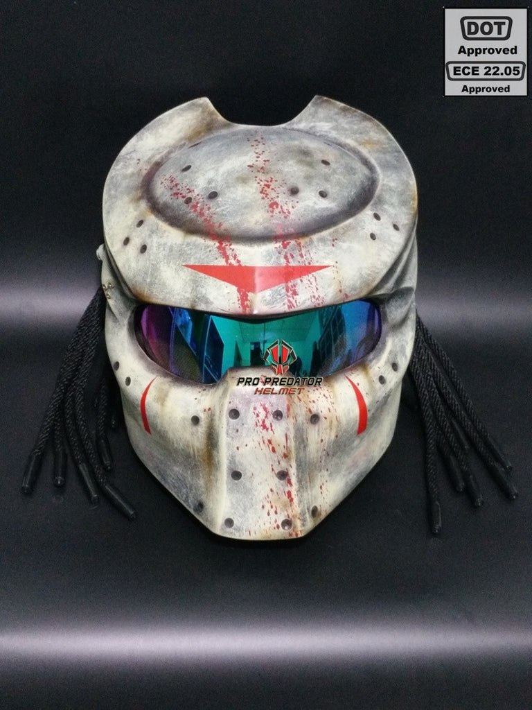 SY22 Custom Predator Motorcycle Dot Approved,ECE Helmet Jason Friday 13th