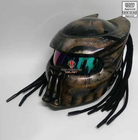 SY19 Custom Predator Motorcycle Dot Approved,ECE Helmet Airbrush