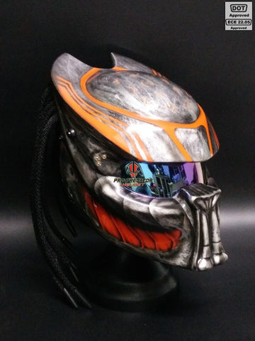 SY05 Custom Predator Motorcycle Dot Approved,ECE Helmet Airbrush