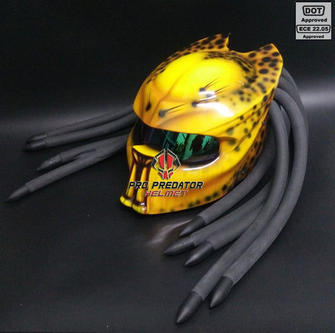 SY14 Custom Predator Motorcycle Dot Approved,ECE Helmet Airbrush sweet yellow