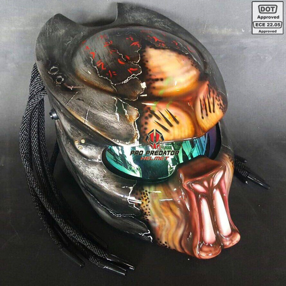 SY29 New Berserker Custom Predator Motorcycle Helmet Dot Approved,ECE