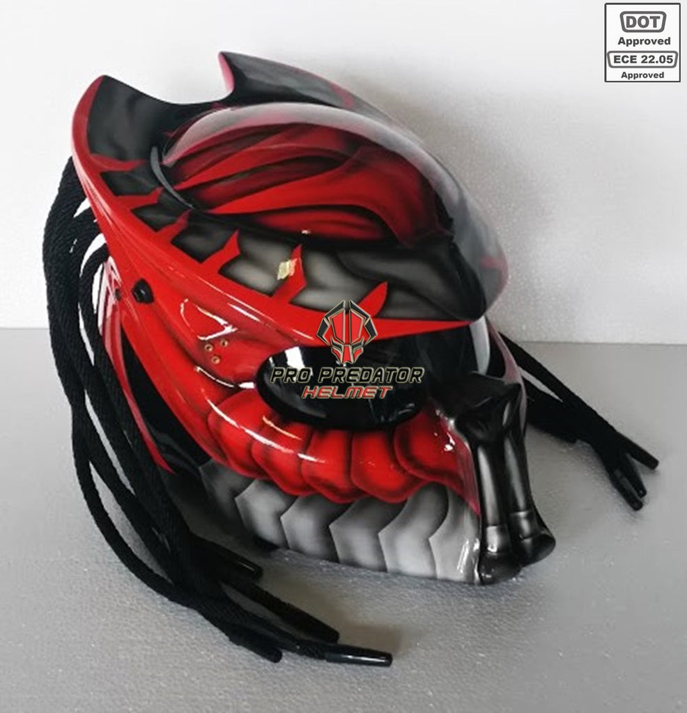 Pro Predator Motorcycle Helmet Dot Approved Sy32 Red Hot Pro