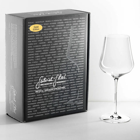Gabriel Glas, Crystal wine glass, 2pack gift box with glass