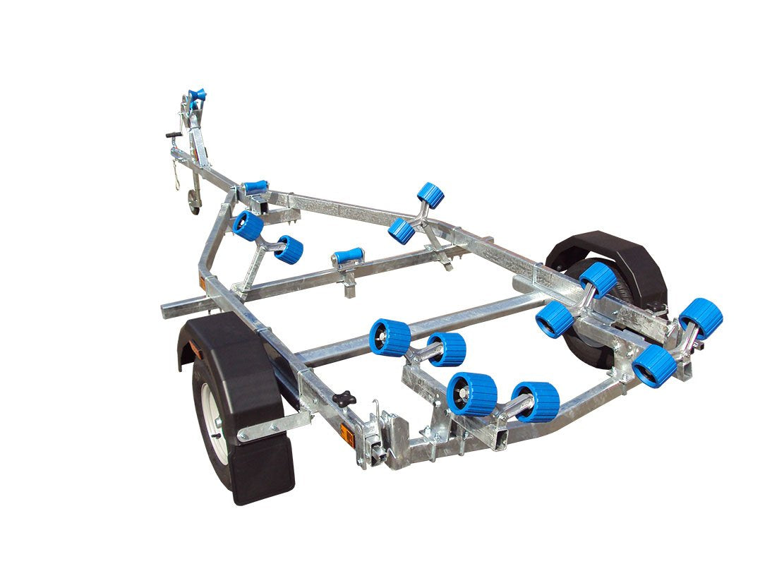EXT 750 Compact Swing Galvanised Boat Trailer - Ocean First Marine