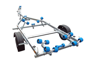 EXT 750 Roller Galvanised Boat Trailer