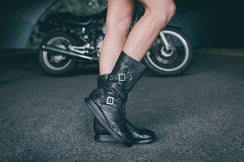 Punk Priestess leather boots
