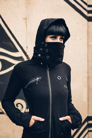 Gas mask/ dust mask convertible jacket