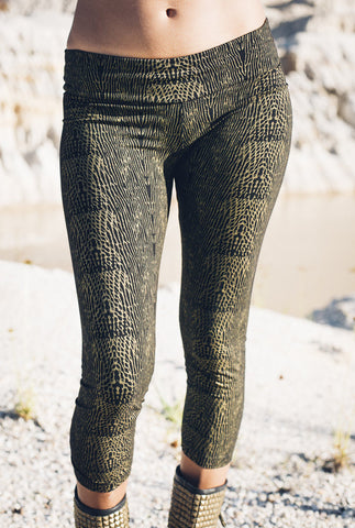 Viper leggings -Gold