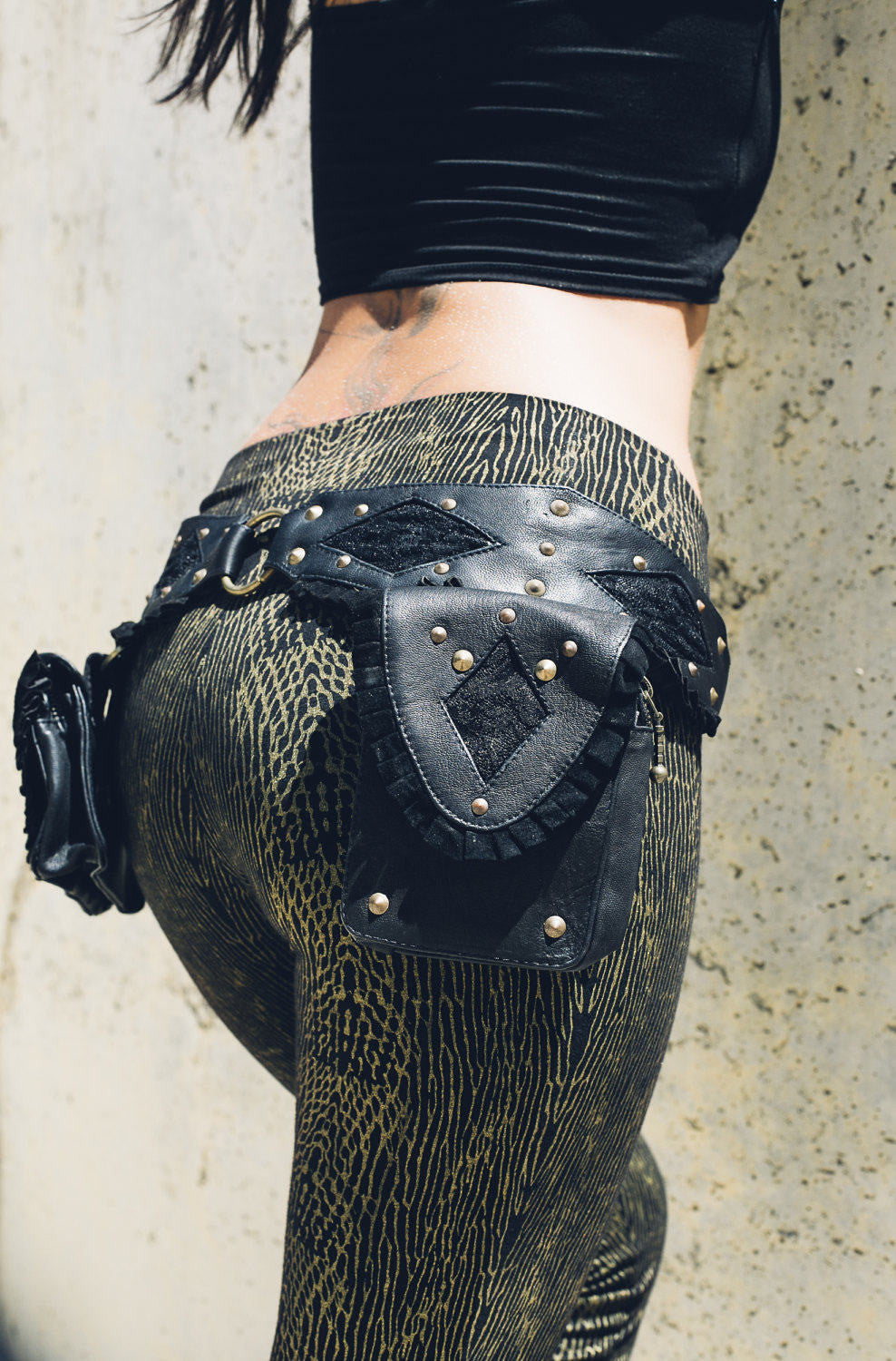 Punk Priestess Leather Pocket Belt