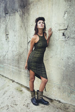 Load image into Gallery viewer, Jade Gold Snake print dress