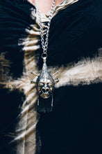 Load image into Gallery viewer, Shrunken Head Pendant - Silver Pendant