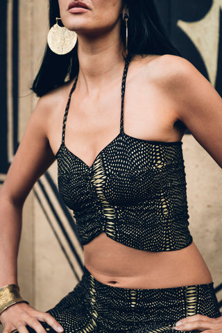 Organic Boob tube - Diamond snake print cotton boob tube bra- Boob tube- little black top- strappy top
