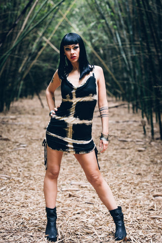 Asha Dress - Mini dress - Cross dye dress - Punk dress - Summer dress