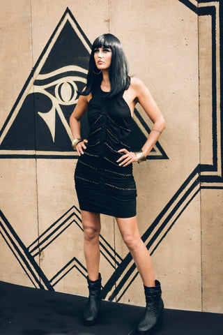 Hecate Dress - Bamboo dress- Rib cage dress - Mini dress