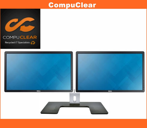 "2 x Dell P 2214 H - 22"" Widescreen Full HD IPS Monitors with Dell MDS 14 Stand - Grade A with Cables"