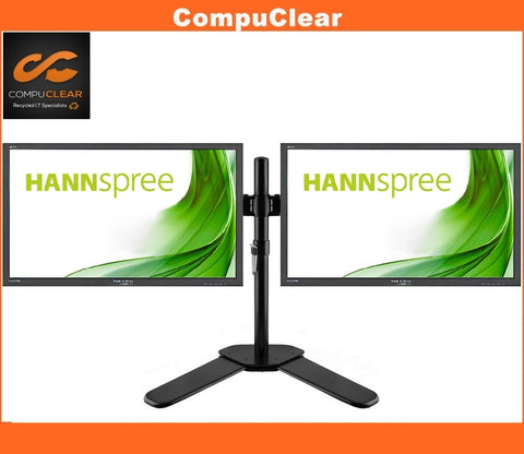 "Dual Monitor and Dual Stand Set Bundle - 2 x 27"" Hanns HL274 Monitor"