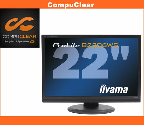"iiyama ProLite B 2206 WS - 22"" Widescreen LCD Monitor - Grade A with Cables"