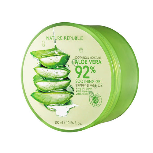JUST ARRIVED! Nature Republic Aloe Vera Soothing Gel, 92% Soothing and Moisture, 300ml