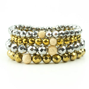 Silver and Gold Stack