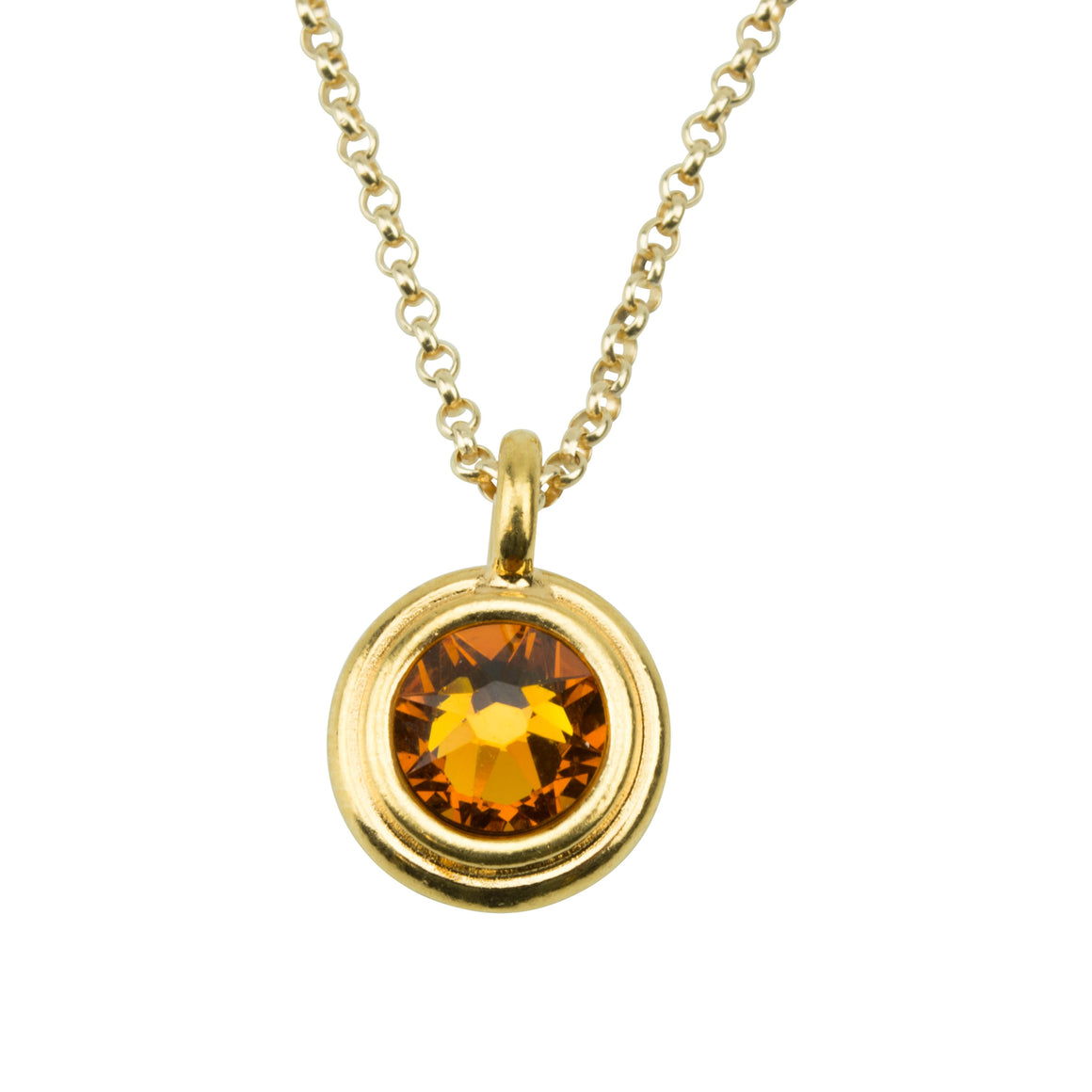 November Birthstone Necklace