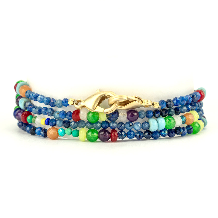 Blue Rainbow Mask Chain Stack