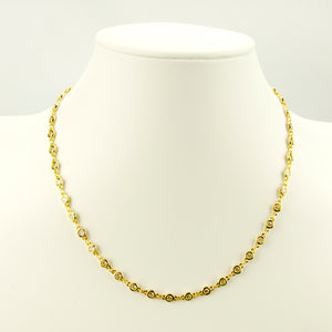 Gold and Crystal Chain