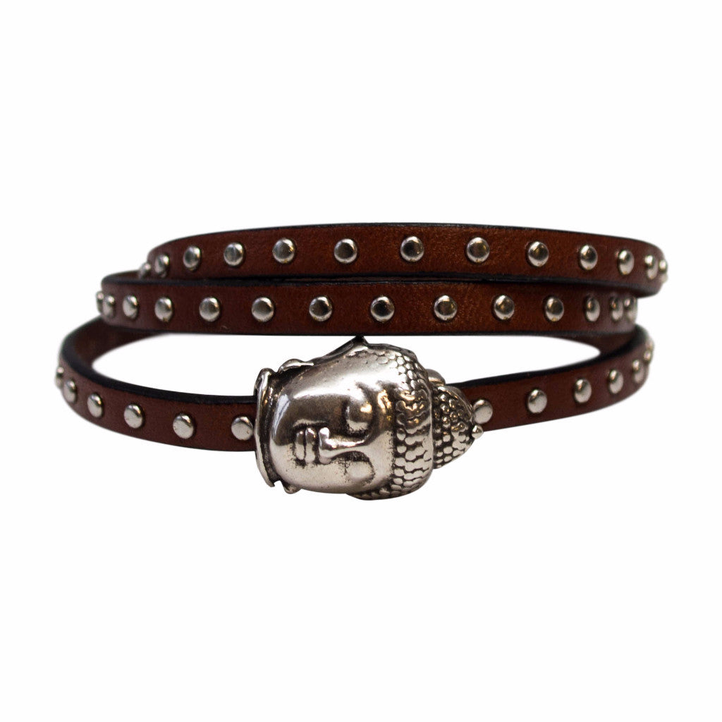 OM Buddha Leather Wrap