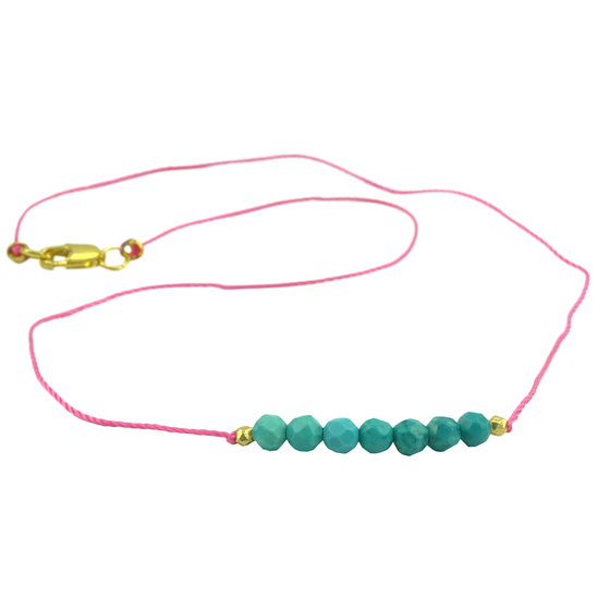 Turquoise String Bikini Necklace