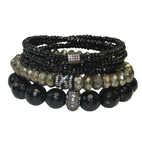 Black as Night Pavé Stack