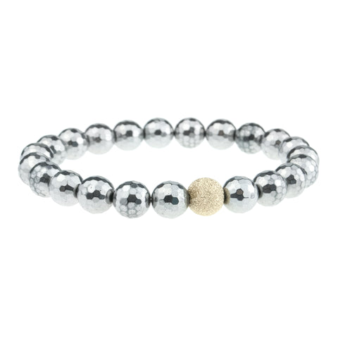 Silver Faceted Round