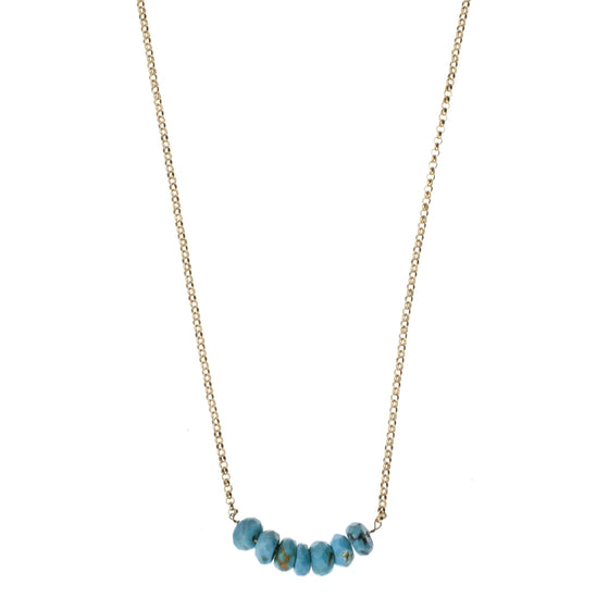 Turquoise Beads Drop Necklace