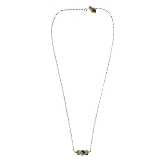 Apple Green Chrysoprase Drop Necklace