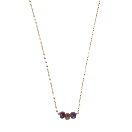 Pink Sapphire Drop Necklace