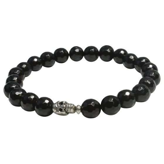 Men's Blacknight Skull Bracelet